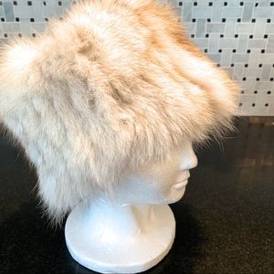 Vintage Rabbit Fur Bucket Hat